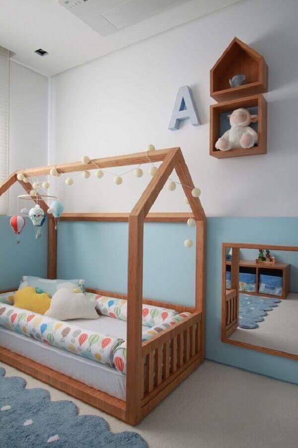 camas baixas infantil para quarto com estilo montessori Foto Pinterest
