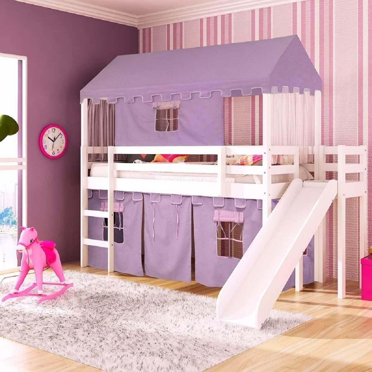 camas criativas infantil para quarto de menina Foto Casatema