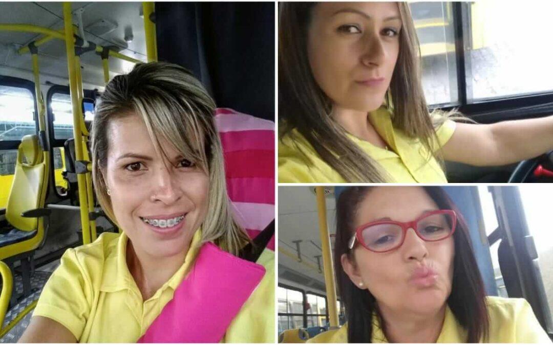 Mulheres e motoristas de ônibus em Jundiaí: com muito orgulho!