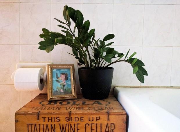 As zamioculcas são ótimas opções para levar o verde para o banheiro (Foto: Fresh Design Pedia/ Reprodução)