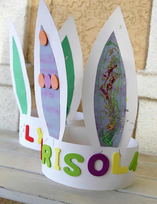 Orelhinhas de papel para Páscoa