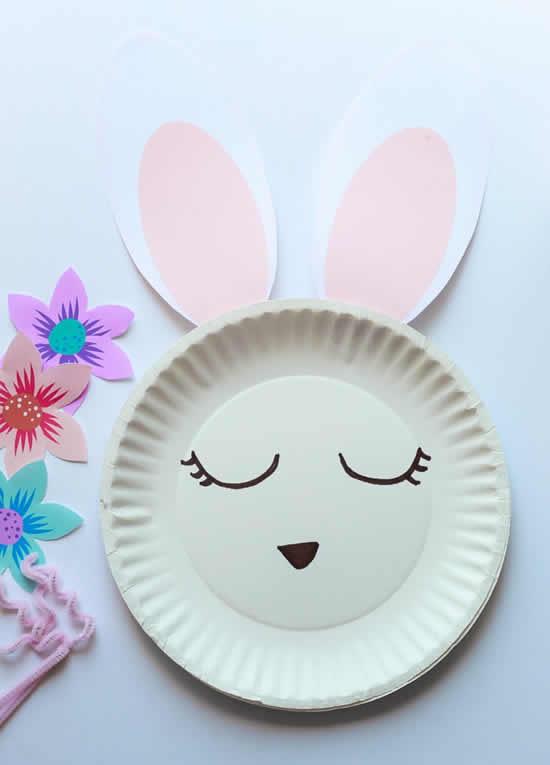 Reciclagem de pratos de papelão para Páscoa