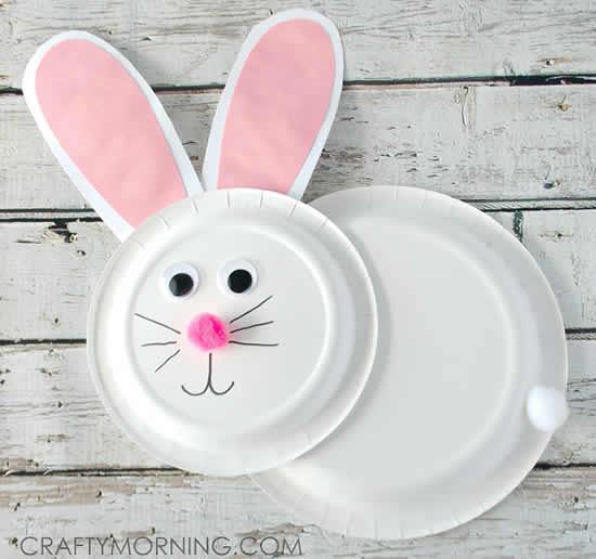 Reciclagem de pratos descartáveis para Páscoa