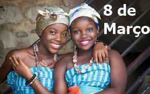 Duas mulheres negras e o texto 8 de março