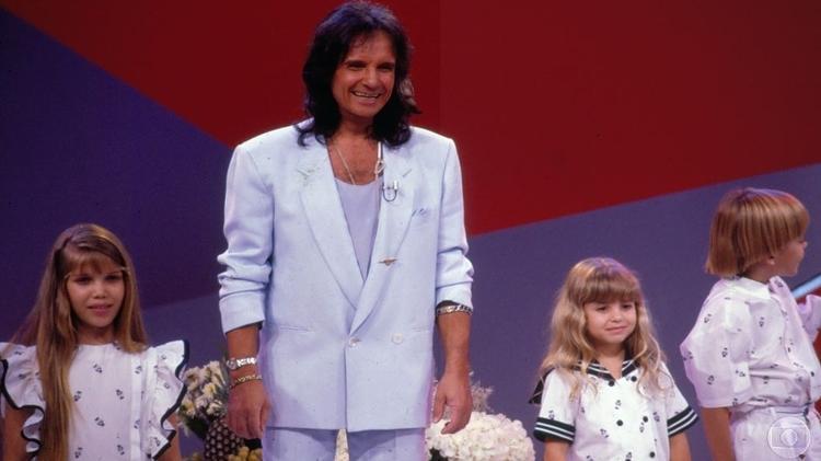 Roberto Carlos no especial de 1990 da Globo - Reprodução - Reprodução