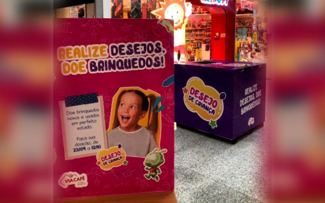 Via Café Garden Shopping lança campanha de arrecadação de brinquedos.